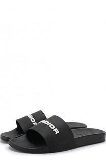 Резиновые шлепанцы с отделкой Dior