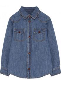 Джинсовая рубашка с накладными карманами Gucci
