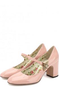 Лаковые туфли Lois на устойчивом каблуке Gucci