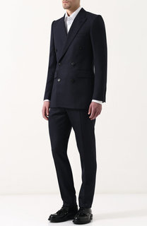 Шерстяной костюм с двубортным пиджаком Burberry