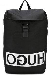 Текстильный рюкзак с принтом HUGO