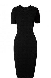 Однотонное платье-футляр из вискозы Versace