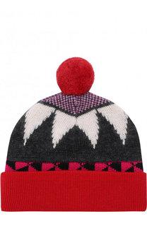 Вязаная шапка с помпоном Burberry