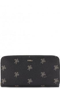 Кожаный кошелек на молнии с принтом Furla