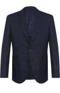 Однобортный пиджак из смеси льна и шерсти BOSS