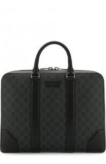 Сумка для ноутбука GG Supreme с плечевым ремнем Gucci
