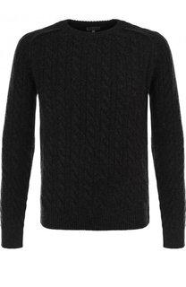 Кашемировый свитер фактурной вязки Lanvin