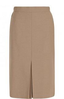 Однотонная юбка-миди с широким поясом Escada