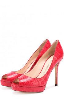 Туфли из кожи каймана на шпильке Nancy Gonzalez