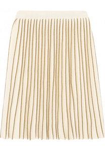 Плиссированная юбка с металлизированной отделкой Gucci
