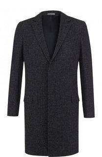Однобортное шерстяное пальто Lanvin
