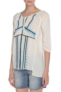 Блуза с вышивкой PINKO TAG