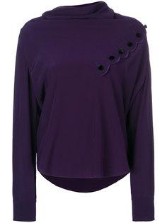 блузка с воротником-хомут  Chloé