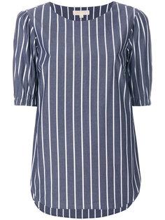 блузка в полоску с укороченными рукавами  Michael Michael Kors