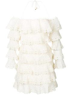 платье с английской вышивкой Zimmermann