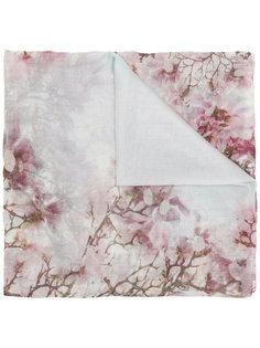 peach flowers print scarf  Faliero Sarti