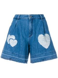 джинсовые шорты с нашивкой Love Moschino
