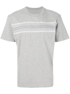 футболка с вышивкой Sacai