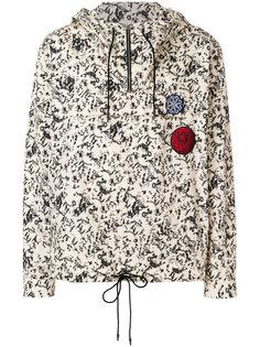 printed hooded windbreaker  Cédric Charlier