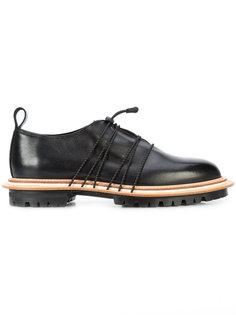 platform laced derby shoes Hender Scheme