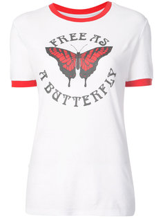 футболка Free as a Butterfly Off-White