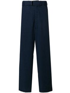 брюки с завышенной талией и поясом  Lemaire