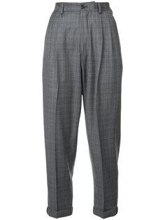 укороченные клетчатые брюки R13
