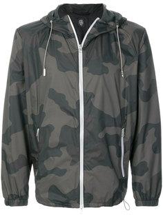 куртка-бомбер с капюшоном и камуфляжным принтом  Eleventy