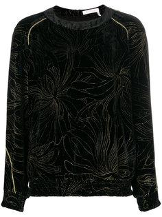 блузка с цветочной вышивкой  Chloé