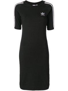приталенное платье-футболка  Adidas