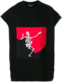 футболка с принтом скелета  Alexander McQueen