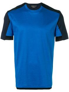 футболка с контрастными вставками  Alexander McQueen