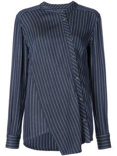 асимметричная рубашка в тонкую полоску Altuzarra