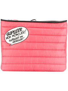 speech bubble quilted clutch Moncler