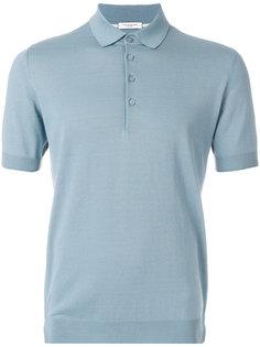 однотонная рубашка-поло Paolo Pecora