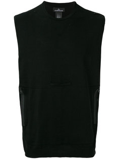 sleeveless fitted sweatshirt Stone Island Shadow Project