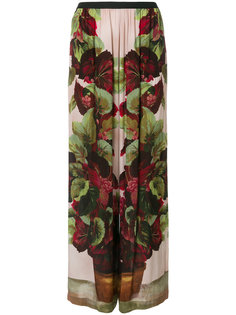 брюки палаццо с цветочным принтом Antonio Marras