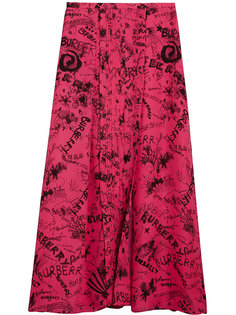 юбка с принтом  Burberry