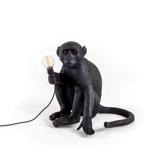 """Настольная лампа """"The Monkey Lamp Black Sitting"""" Seletti"""