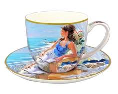 """Чашка с блюдцем """"У моря"""" Carmani"""