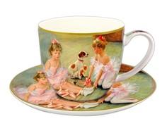 """Чашка с блюдцем """"Балерины на отдыхе"""" Carmani"""