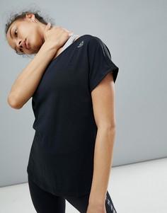 Черная спортивная футболка Reebok - Черный