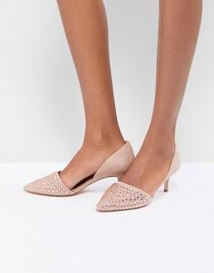Декорированные туфли на каблуке-рюмочке Coast - Розовый