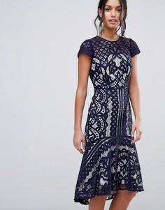 Кружевное платье Coast Dee Dee - Темно-синий