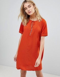 Платье с завязками и кисточками First & I - Оранжевый