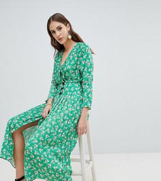 Плиссированное платье макси с цветочным принтом ASOS TALL - Мульти