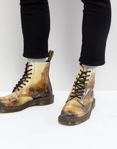 Ботинки с 8 парами люверсов Dr.Martens William Turner - Черный