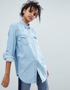 Джинсовая рубашка Monki - Синий