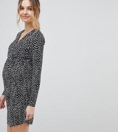 Плиссированное платье с запахом и принтом ASOS DESIGN Maternity - Мульти