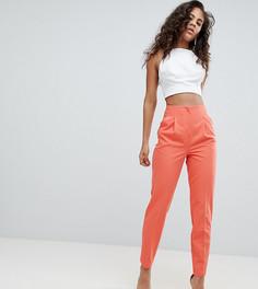 Комбинируемые брюки-сигареты с завышенной талией ASOS TALL - Розовый